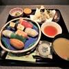 しまだ鮨割烹 - 料理写真:鮨・天ぷら(小鉢、汁物、果物)¥990