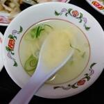 餃子の王将 - 令和3年3月 本日の定食のスープ