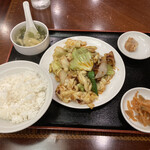 敦煌 - ホイコーロー定食
