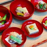 日本酒バル のまえ - 【茶寮盆】四季の素材を味わう全5品