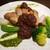 シエル ブルー - 料理写真:豚肉のロティ 赤ワインフォンデュソース ジェノベーゼソース