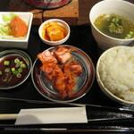 ホルモン大吾朗 - カルビ定食 1000円 (2021.3)
