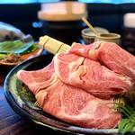 148055510 - プルコギ  特上鹿児島黒牛/野菜の盛り合わせ
