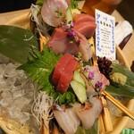 近畿大学水産研究所 - 鮮魚のお造り盛り(2名)2640円