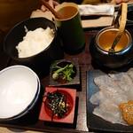 近畿大学水産研究所 - 鯛の胡麻茶漬け990円