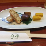 日本料理 紀伸 - れんこん・穴子・かぼちゃばたー