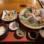 地魚料理 まるさん屋 - お刺身御膳 1590円税抜