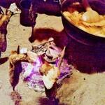 148075908 - 山の芋鍋と岩魚塩焼き