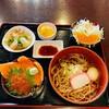 いろり網元 - 料理写真:ミニ海鮮親子丼とあったかいそば