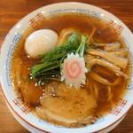 麺屋 隊長 - 魚介中華そば+味タマ♪