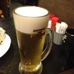 炭火焼鳥居酒屋 うっちゃん家 - 生ビール