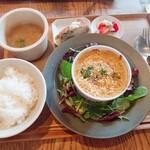 SAN - 鱈と薩摩芋のゴアカレーグラタン
