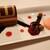 ブルーバイユー・レストラン - カシスムース&チョコレートケーキ