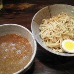 赤羽京介 - つけ麺+味玉。