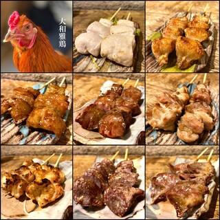 お酒と相性抜群。全種類食べたい、紀州備長炭で焼き上げた焼鳥。