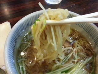 若竹 - この麺の食感、面白いです