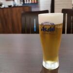 本場中華食堂 味道 - 生ビール(アサヒスーパードライ500円+税)