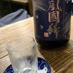 カキ酒場 北海道厚岸 - 吟風國稀 いっぱい注いでね!