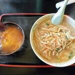 ぽろとこたん - 料理写真:令和2年3月 半天菜々麺セット 菜々麺+天津飯ハーフ 税込850円