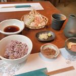 蕎麦茶寮 恩寵 - 料理写真:野菜天もり蕎麦膳1,100円