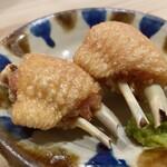 Ogawa - 手羽先の一夜干しのから揚げ 柚子胡椒