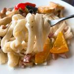展望・星屑レストラン ガイア - ブルーチーズとポルチーニのHOUTOUパスタ