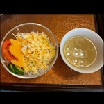 サガン - セットのサラダとタマゴスープ