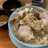 Ramenfujimaru - 料理写真:ブタ増し、麺少なめ、生卵(サービス)、アブラ、  ニンニク少なめ