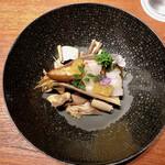 ラ メゾン ドゥ ラ ナチュール ゴウ - ○筍の素焼きとタイラギ貝に甘夏様