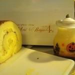 ベルグの4月 - 限定、焼き芋ロール&パンプキンプリン。 美味しいです!!