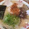 大輪ラーメン - 料理写真:大盛ラーメン800円(にんにくチップ入り)