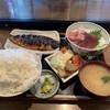 田園食堂 うめや - 料理写真:マグロ+焼サバ+ご飯大盛 1200円(税込)