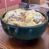 ひばり食堂 - 料理写真:カツ丼大盛り ラーメン丼の大きさ