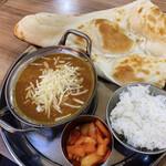 インディアン・パキスタンレストラン カナ - 温玉キーマカレーセット