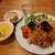 Copito - 料理写真:サラダやポテト付きでバランス抜群のパエリアランチ990円、+110円でかぼちゃのクリームスープ&パン付きに