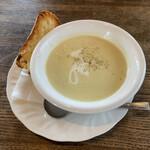 148188602 - 本日のスープ(さつま芋のクリームスープ)