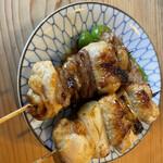 江戸政 - ネギマ、スタミナハート、ピーマン肉詰め