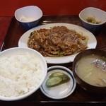 盛岡食堂 - 肉みそ炒め定食