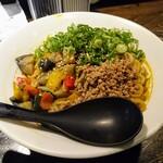汁なし ゴリラ - 令和元年10月 カレー汁なし担々麺350g 税込750円