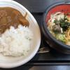 七味家 - 料理写真:お肉と野菜ゴロゴロカレーライス、たぬきうどん