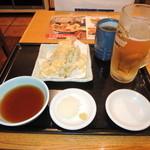 天丼てんや - 得ビールセット550円