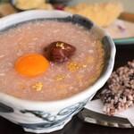 とん唐てん - 料理写真:梅がゆ親子丼
