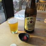 利き蕎麦 存ぶん - 瓶ビール・お通し