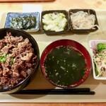 食いしんぼ ままや - 焼肉丼御膳(1100円)