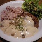カフェソラーレ - ハンバーグ クリームソース