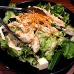ももたろう - ササミと豆腐の胡麻ドレッシングサラダ