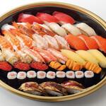 特上寿司 「極」 3人前(39貫)