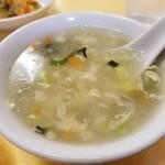 長城飯店 - スープ。