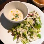 オルジェンティーレ - スープとサラダ