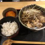 香るつけ蕎麦 蕎麦花 - 鳥ごぼう蕎麦ととろろ飯